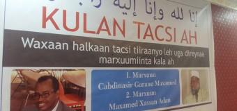 Tacsi Qaran oo Loo dhigay Xildhibanadi ku Geeriyooday Hotel Naasa Hablood