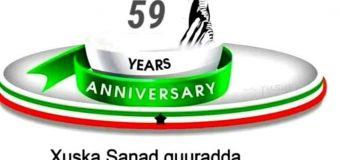 Sanad-guurada 59aad ee Xorriyadda Somaliland Hambalyo 26ka June